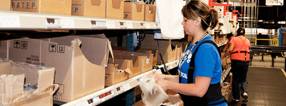 Push-button picking: Intelligrated specialises in automated warehousing systems © Intelligrated