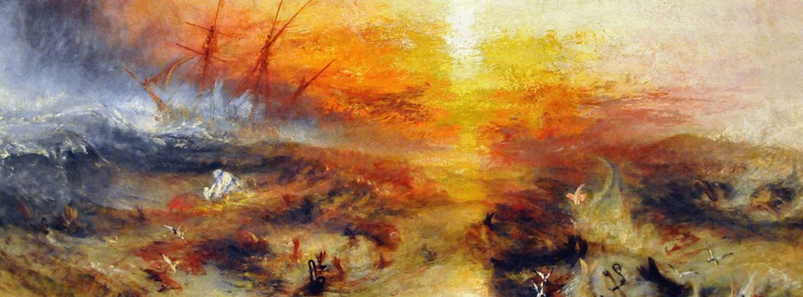 JMW Turner painted this for an 1840 anti-slavery meeting in London