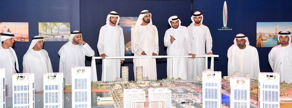 Sheik Mohammed said the harbour was inspired by the region's maritime tradition ©Government of Dubai Media Office
