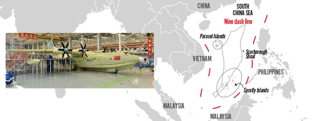 China unveiled the world's largest amphibious aircraft around the same time as tensions were rising in the South China Sea