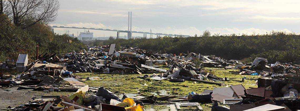 Waste crime, including fly-tipping, could cost the UK more than £500m a year ESA estimates ©Chris Radburn/Press Association Images