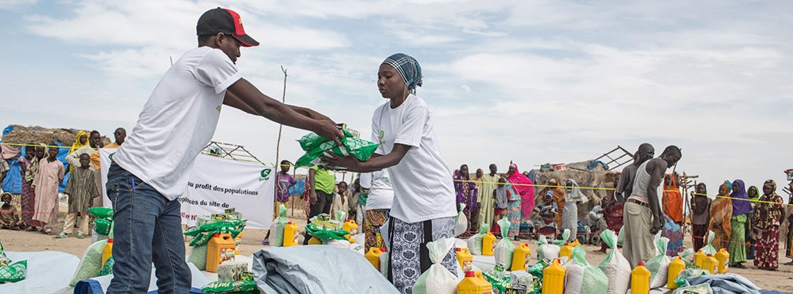Oxfam supports economic development by channelling international purchases through local markets