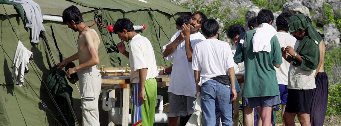 Immigrants on the Island of Nauru © Rick Rycroft/AP/PA images