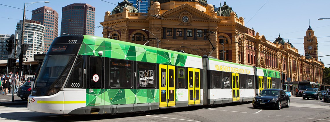 Melbourne's tram network includes 250km of track © Yarra Trams