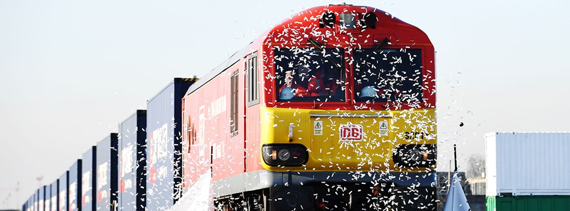 The first freight train from China to Britain completed its 18-day journey along the Silk Road last week © Stefan Rousseau/PA Images