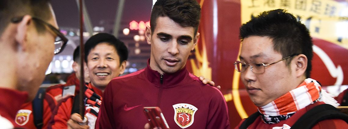 Brazilian midfielder Oscar signed for Shanghai SIPG for £52m © VCG via Getty Images