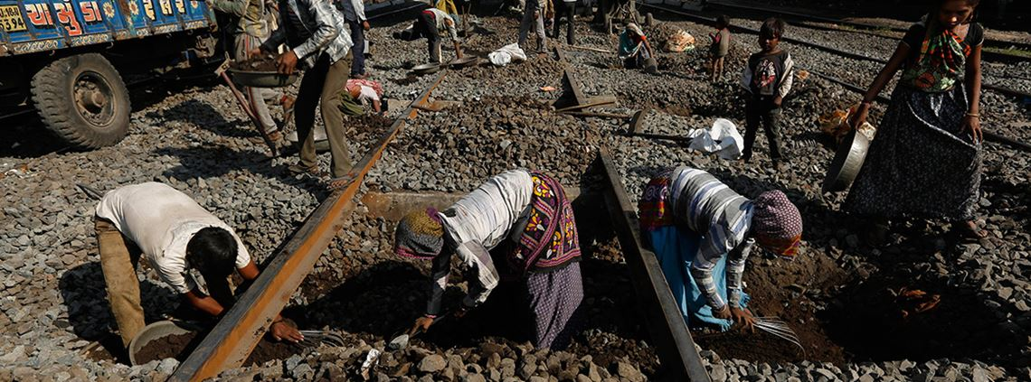 The government will spend Rs550bn on railways and 3,500km of new lines will be commissioned ©AP/Ajit Solanki/PA Images
