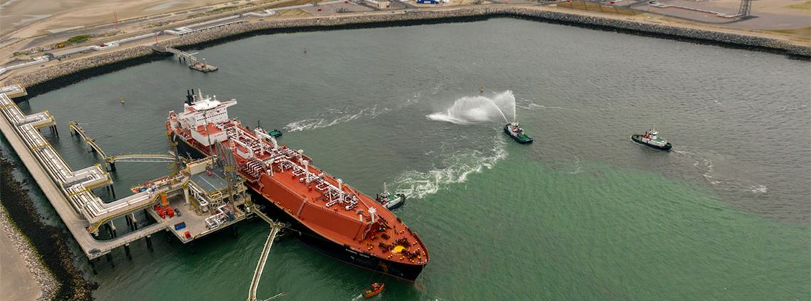 A new liquefied natural gas terminal has opened in Dunkerque, France © Dunkerque LNG 2013