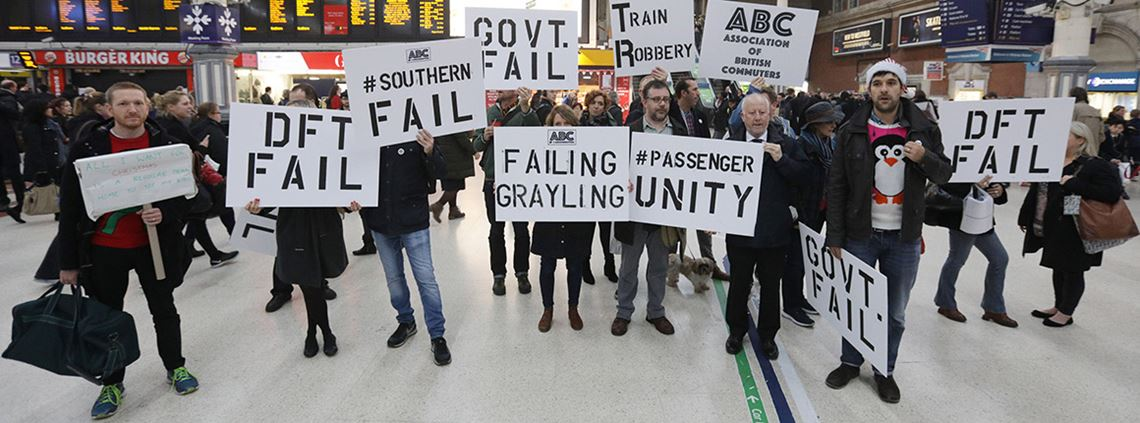 Commuters organised protests last year over the poor service put on by the Southern Rail franchise ©PA Images