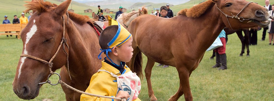 The horse and Bactrian camel are common modes of transport in Mongolia © PA Images