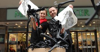 Marks & Spencer recycles coat hangers as part of its sustainability programme © M&S