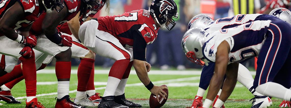 This year's Super Bowl between Atlanta Falcons and New England Patriots was watched by more than 115m people worldwide © AP Photo/Mark Humphrey/PA Images