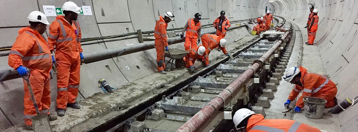 Evolving performance criteria resulted in a supplier changing their tunnelling method © Crossrail