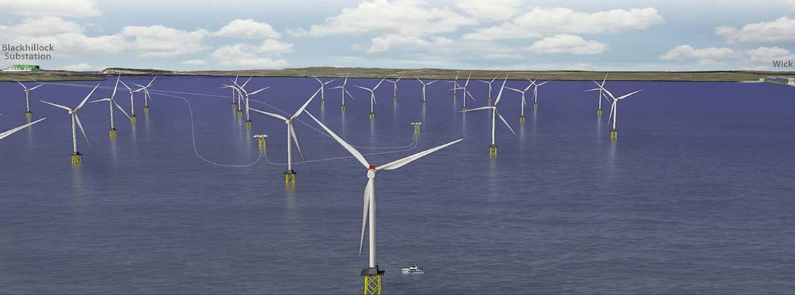 Construction of offshore wind projects, including SSE's 588MW Beatrice, are boosting UK infrastructure spend