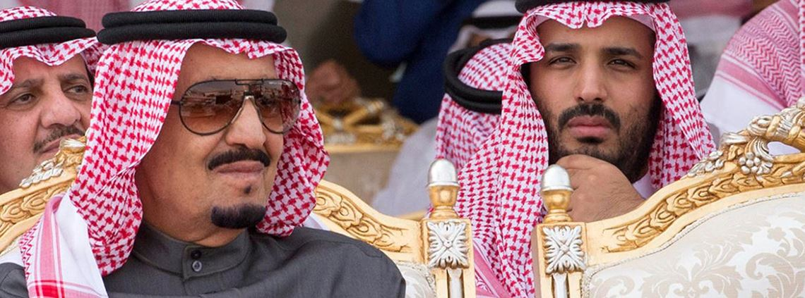 Prince Mohammed Bin Salman Al Saud (right), pictured with his father King Salman Bin Abdul Aziz Al Saud, hopes to raise $100bn by floating Saudi Aramco © Balkis Press/ABACA/PA Images