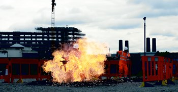 Tideway's health and safety training, which involves actors and simulated environments, aims to cut the incident rate to zero ©ATT