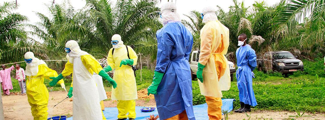 Three million protective suits were used in the 2014 Ebola outbreak in West Africa © PA Images