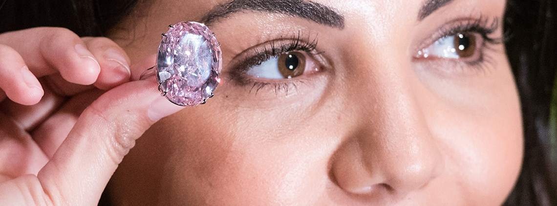 The most expensive diamond ever, the Pink Star, is expected to fetch $60m at auction © Nick Ansell/PA Wire/PA Images