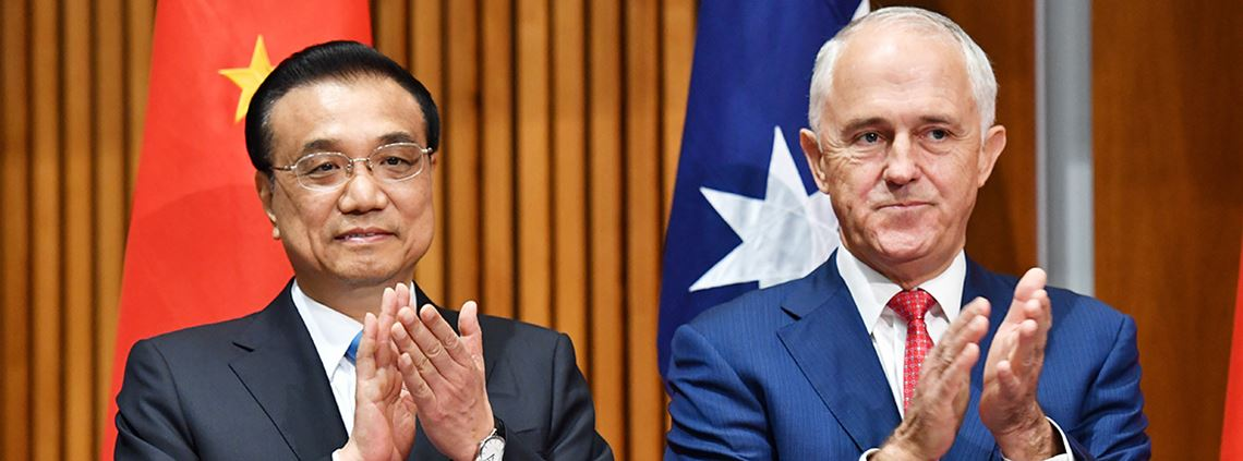Premier Li Keqiang said he wanted to advance trade relationships with Australia during a meeting with prime minister Malcolm Turnbull © Mick Tsikas/AAP/PA images