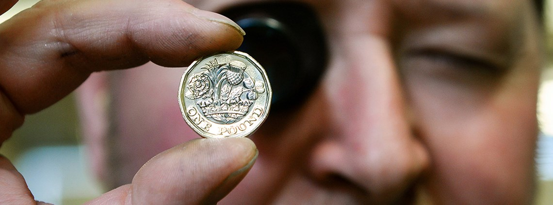 The new pound will feature several new security features to tackle forgeries © Wire/PA Images