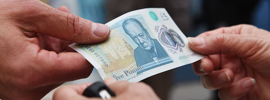 There was a backlash from some animal welfare and religious groups over the use of tallow in the new £5 note ©PA Images