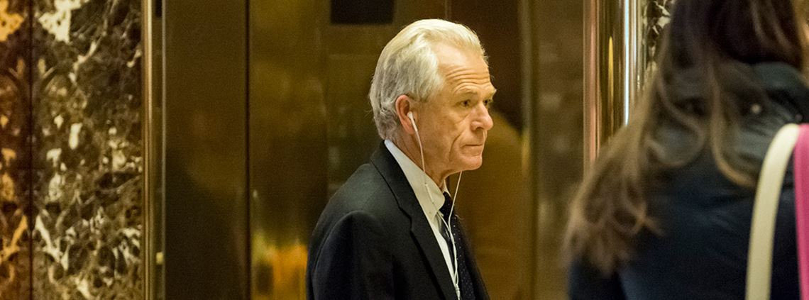 Peter Navarro, President Trump's new trade chief, wants to reclaim US supply chain and manufacturing capability ©PA Images