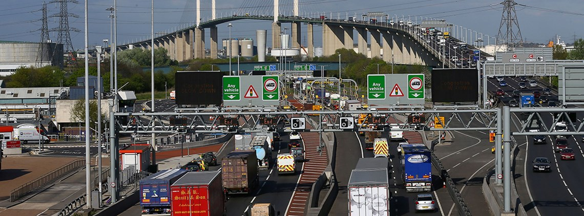 Currently the only road crossings east of London are the Dartford Tunnel and Queen Elizabeth II Bridge © PA Wire/PA Images