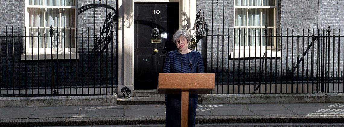 Theresa May hopes the result of a snap election will improve her Brexit negotiating position ©PA Images