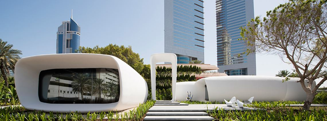 Dubai's Future Foundation helped to develop the world's first 3D-printed building, using 50% less labour in construction