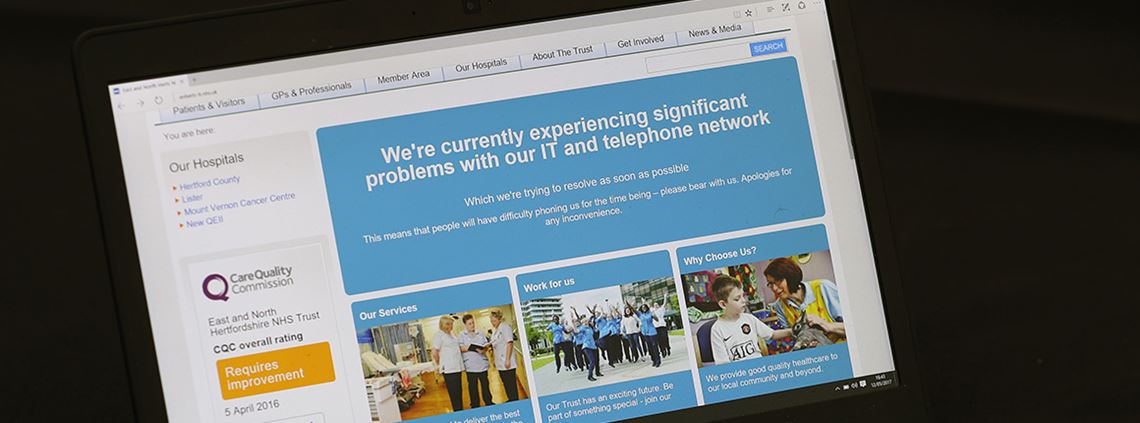 Operations were cancelled when NHS computers were hit by the attack © PA Wire