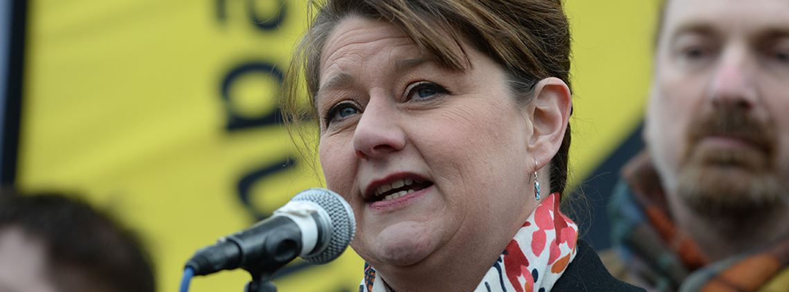 Plaid Cymru leader Leanne Wood says awarding contracts to local businesses would create more jobs © PA Media