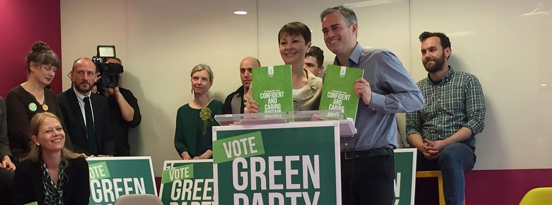 Green Party co-leaders Caroline Lucas and Jonathan Bartley want healthcare publicly provided and funded ©PA Wire/PA Images