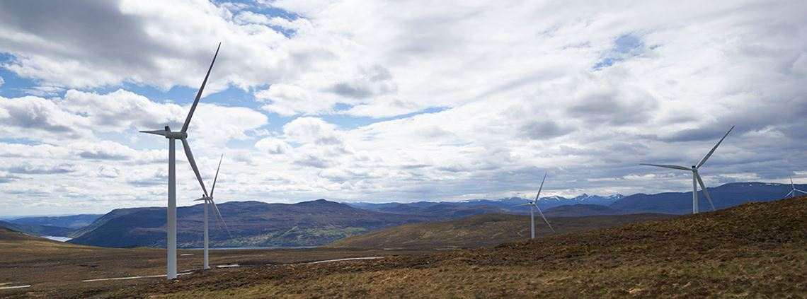Wind farms in the Scottish highlands will provide power to 15 Unilever sites
