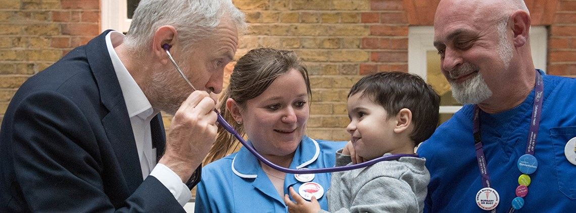 The Labour Party has been focusing its campaign on public services including childcare and the NHS ©PA Images