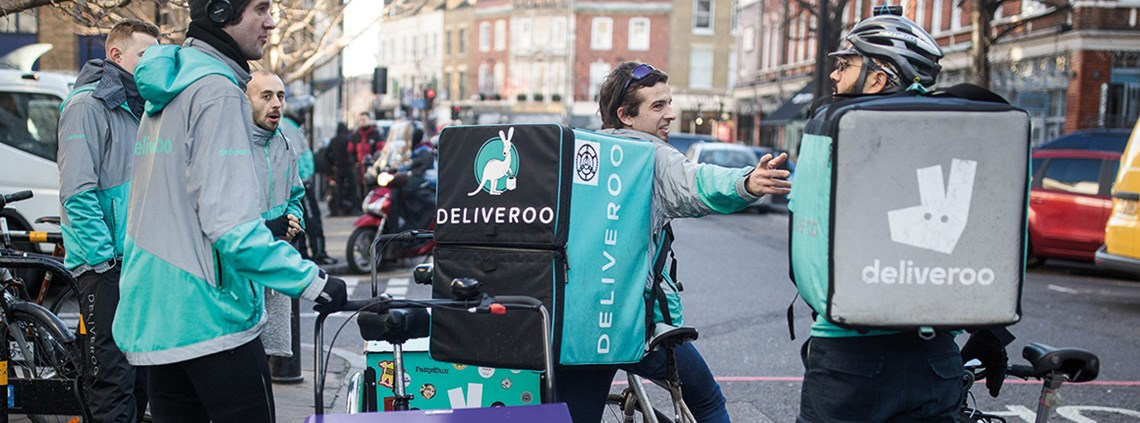 Deliveroo riders are hoping to be classed as workers, giving them access to holiday and sick pay. © Getty Images