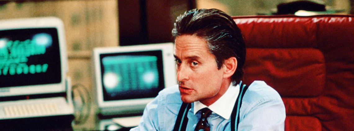 Michael Douglas as information profiteer Gordon Gekko in Wall Street. © Rex/Shutterstock