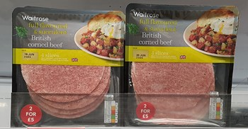 Waitrose pulled packets of Brazilian sliced corn beef sourced through JBS. Beef from the UK remained on sale