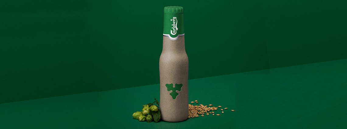 Carlsberg will launch a new wood-fibre beer bottle in 2018 © Carlsberg