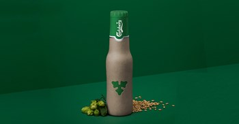 Carlsberg's new sustainability pledge includes launching a new beer bottle, made from sustainably sourced wood fibre © Carlsberg
