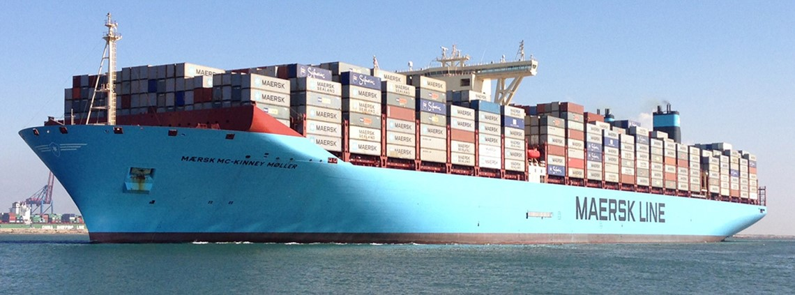 Maersk's container lines transport about 15% of the world's seaborne manufactured goods trade © 123RF