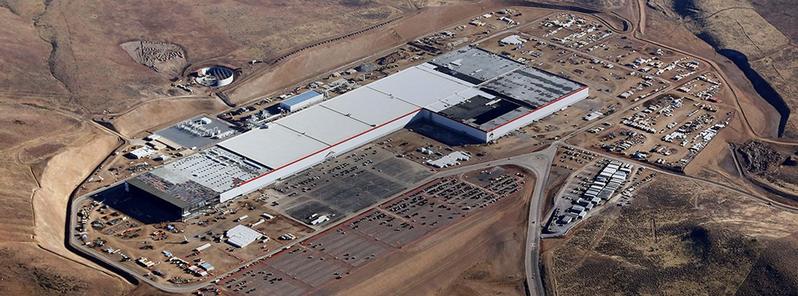 Tesla Motors are building a similar major plant in Nevada, in the US © Tesla