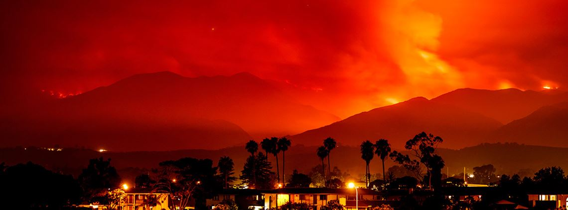 The wildfires have swept across the western US and Canada, forcing evacuations © Zuma Press/PA Images