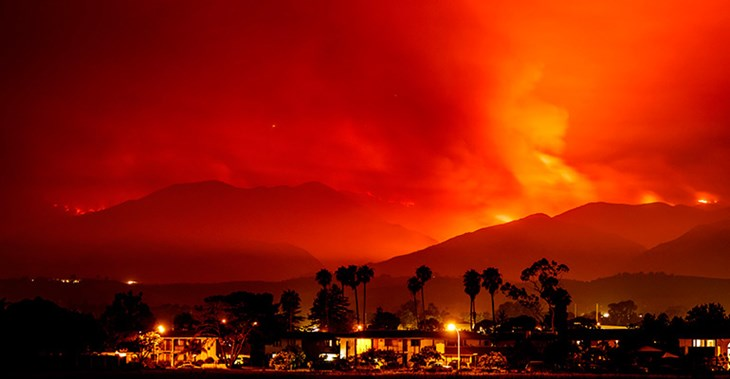 The wildfires have swept across the western US and Canada forcing evacuations © Zuma Press/PA Images