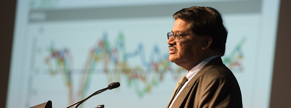 Rajiv Biswas said the financial system was a key target © CIPS