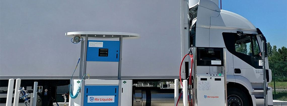 Aire Liquide will lead the trials of vehicles powered by biomethene, CNG and LNG ©AirLiquide