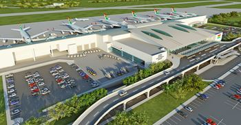 An artist's impression of the new terminal at Kotoka International