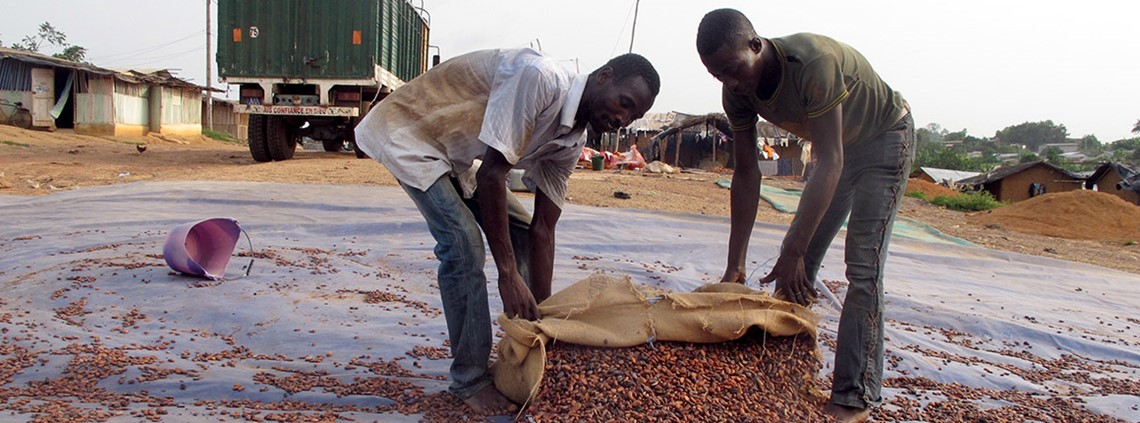 Ghana and Côte d'Ivoire produce 64% of global cocoa supply © DPA/PA Images