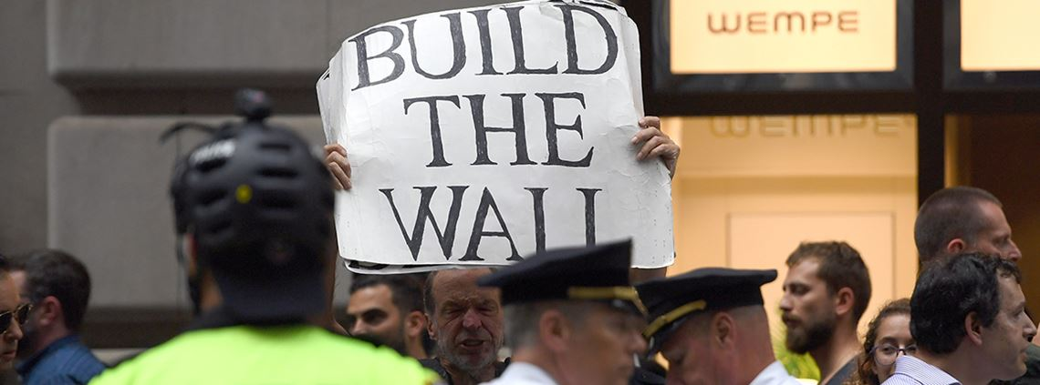 Building a wall was one of president Trump's main election pledges ©PA Images