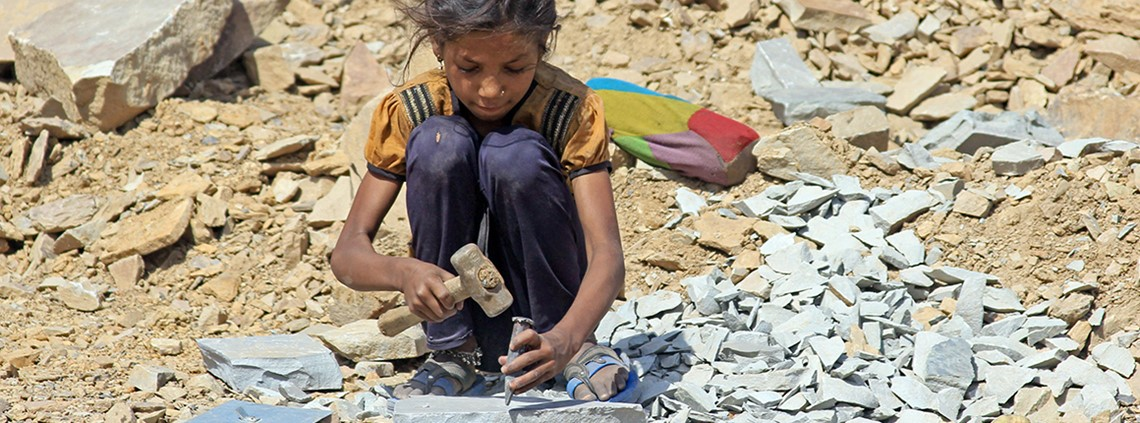 Child labour has been uncovered in Indian quarries © DPA/PA Images
