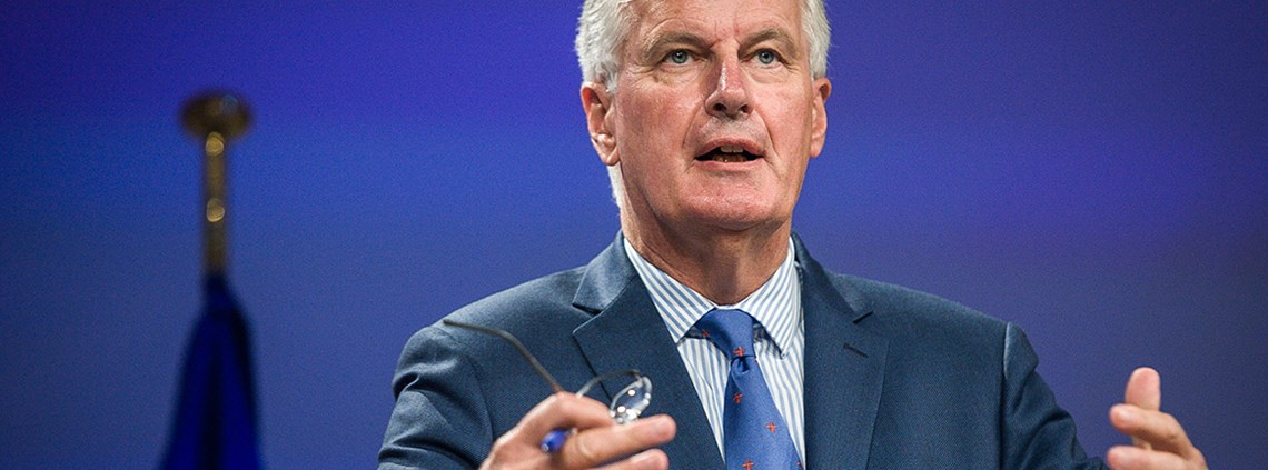 The EU's negotiator Michel Barnier said the UK's position on the Ireland/Northern Ireland border worried him ©DPA/PA Images